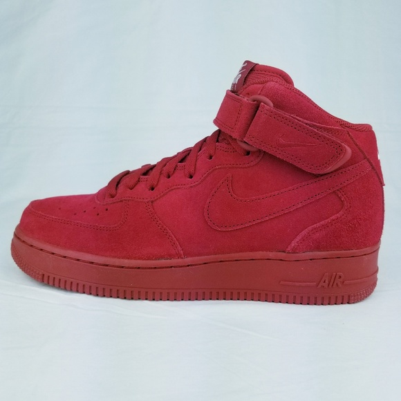 Nike Air Force 1 Mid '07 Suede Gym Red